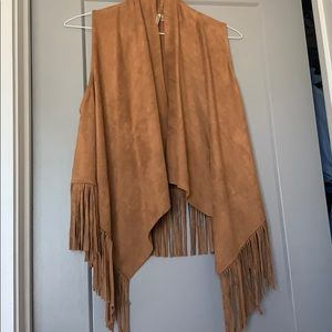 Brown Suede Shawl